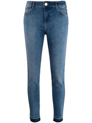 Twin Set Cropped Jeans Blue