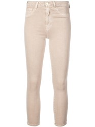 L'agence Cropped Skinny Jeans Neutrals