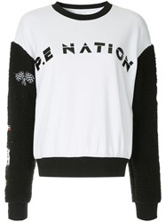 P.E Nation Box In Sweatshirt White
