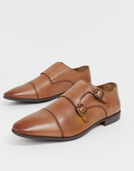 Pier One Monk Shoes In Tan