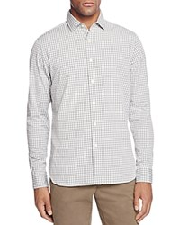 Bloomingdale's The Men's Store At Two Tone Gingham Slim Fit Button Down Shirt Hunter