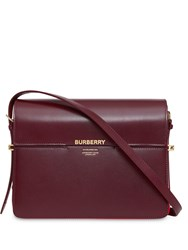 Burberry Large Leather Grace Bag Red