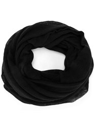 Isabel Marant Knitted Circle Scarf Black