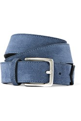 Andersons Anderson's Suede Belt Blue