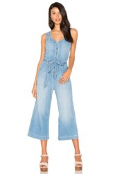 7 For All Mankind Culotte Jumpsuit Blue