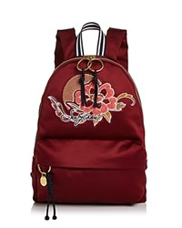 See By Chloe Embroidered Satin Backpack Grenat Gold