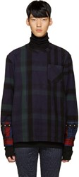 Sacai Navy Check Flannel Pullover