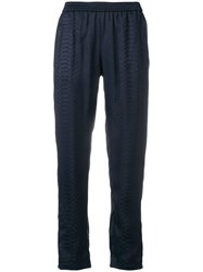 Stella Mccartney Snake Print Trousers Blue