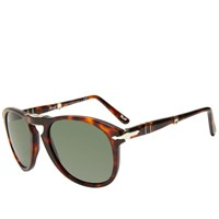 Persol 714 Aviator Sunglasses Brown