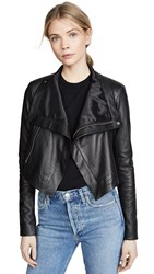 Veda Maximus Smooth Leather Jacket Black