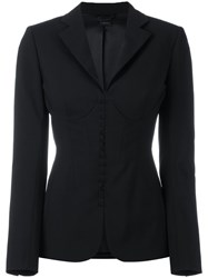 La Perla Essentials Jacket Women Silk Spandex Elastane Virgin Wool 2C Black