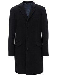 John Lewis Wool Blend Epsom Overcoat Charcoal