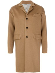 Valentino Single Breasted Coat Camel Hair Nude Neutrals