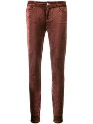 Paige Skinny Trousers Red