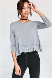 Truly Madly Deeply Serena Knit Peplum Top Black