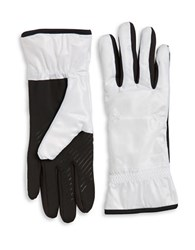 Ur Powered Faux Fur Lined Tech Gloves White