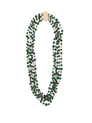 Rosantica By Michela Panero Pegaso Beaded Quartz Necklace Green Multi