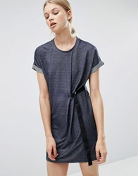 Noisy May Jersey Denim Look Dress Blue