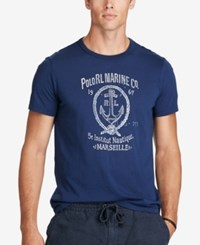 Polo Ralph Lauren Men's Big And Tall Graphic Print T Shirt Navy