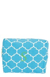 Cathy's Concepts Monogram Cosmetics Case Blue S