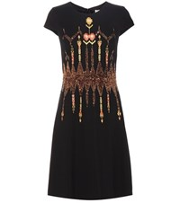 Etro Sequinned Embroidered Dress Black
