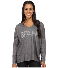Lole Indra Top Dark Charcoal Breathe Women's Long Sleeve Pullover Gray