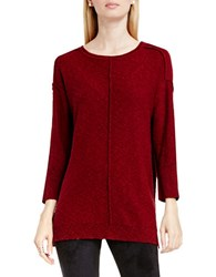 Vince Camuto Exposed Seam Crewneck Pullover Red