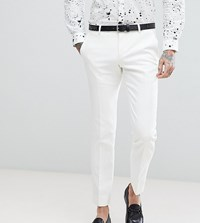Noose And Monkey Super Skinny Suit Pants White