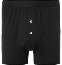 Handvaerk Pima Cotton Jerey Boxer Brief Black