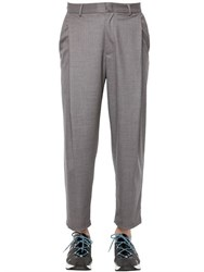 Emporio Armani 19Cm Cropped Brushed Wool Pants