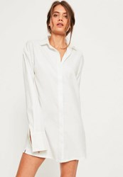 Missguided White Soft Touch Shirt Dress