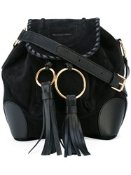 See By Chloe Polly Shoulder Bag Women Cotton Calf Suede One Size Black