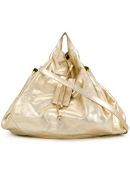 Marsell Slouchy Drawstring Tote Leather Metallic