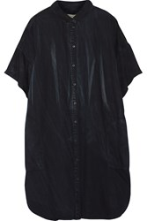 Current Elliott Oversized Denim Shirt Dress Black