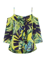 Therapy Chelsea Cold Shoulder Top Multi Coloured