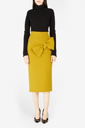 Roksanda Ilincic Women S Maida Skirt W Bow Boutique1 Yellow