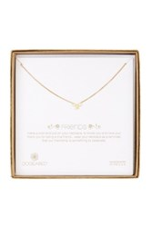 Dogeared 14K Gold Plated Sterling Silver Bridal Friend Bow Necklace Metallic