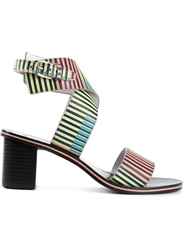 Paul Smith Stripped Crisscross Sandals Multicolour