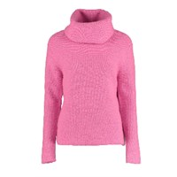 Lowie Chunky Roll Neck Jumper Pink