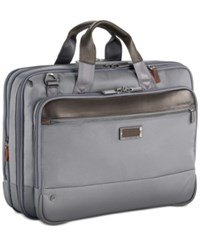 Briggs And Riley Work Medium Briefcase Grey
