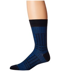Etro Ikat Socks Blue Men's Crew Cut Socks Shoes