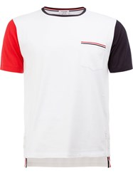 Thom Browne Contrast Sleeve T Shirt White