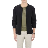 Atm Anthony Thomas Melillo Zip Front Sweater Black