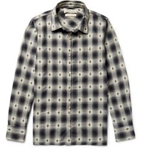 Remi Relief Checked Cotton Dobby Shirt Black