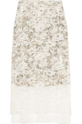 Preen By Thornton Bregazzi Lace Skirt Ivory