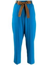 Alysi Slim Fit Trousers Blue