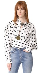 Jacquemus Dot Blouse White Black Dot