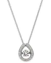 Twinkling Diamond Star Diamond Horseshoe Pendant Necklace In 14K White Gold 1 3 Ct. T.W.