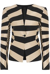 Gareth Pugh Striped Hopsack Jacket Black