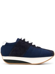 Marni Bigfoot Flatform Sneakers Blue